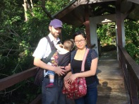 Hike in the rain forest in Malaysia